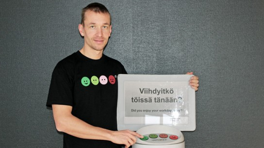 Heikki Väänänen, the founder and CEO of Happy Or Not, thinks that giving feedback should be fun and easy.