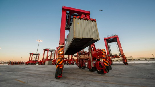 Kalmar's ESC350 diesel-electric straddle carriers will be delivered to Elizabeth, New Jersey.