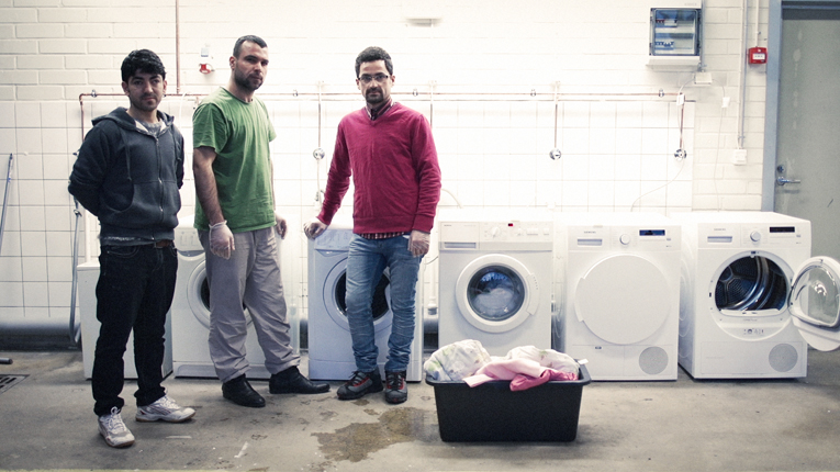 Startup Refugees helps people to create business, for example in reception centers. Pictured a reception centre laundry, established by the refugees themselves.