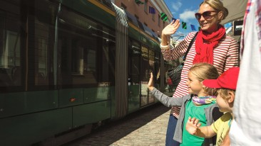 Around 81 per cent of residents are satisfied with public transport in the Helsinki Region.