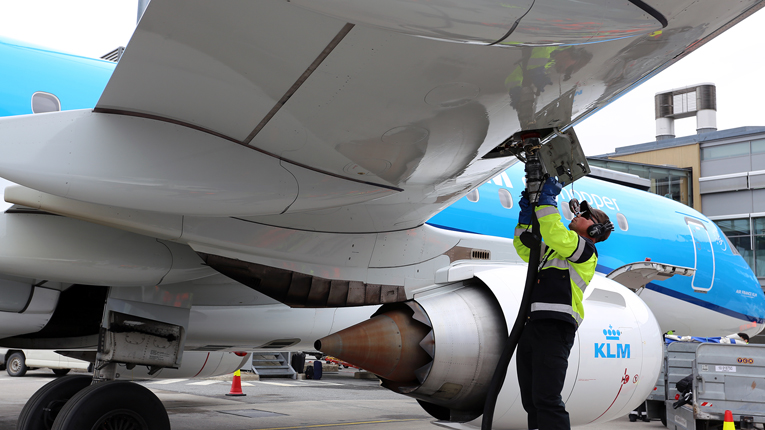 KLM will use Neste's jet fuel in about 80 flights over the next few weeks from Oslo to Amsterdam.