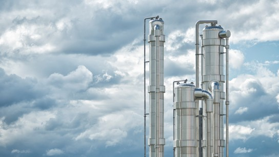 Ecoenergy's biogas plant uses sludge from a pulp mill. It is the world's first biogas plant application in a wood and pulp industry environment.