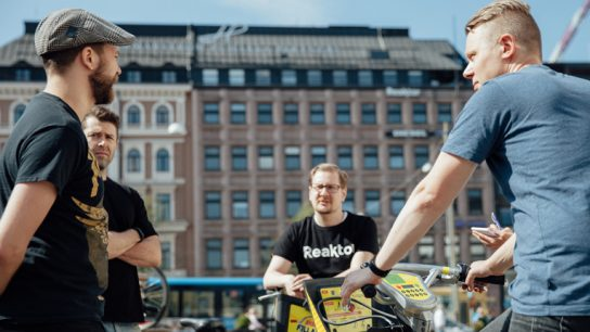 Finnish companies Reaktor (pictured) and Crasman created city bike tracking apps by using the open data of Helsinki Region Transport.