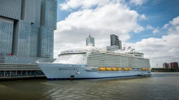 With a length of 362 metres, Harmony of the Seas is the world's largest cruise ship.