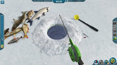 In Ice Lakes players can select from almost 100 pieces of equipment, and take into account depths, weather conditions and time of day.