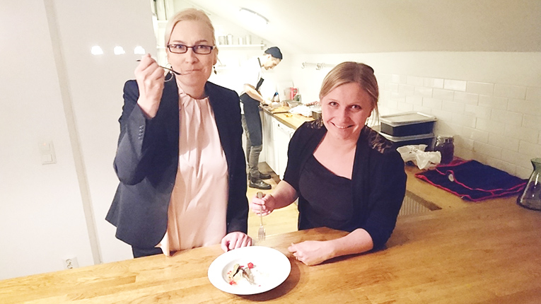 From Waste to Taste founder Johanna Kohvakka (left) is building a mobile app to make food waste collection more efficient. Retailers and producers will be able use it to report the type and quantity of food they have available.