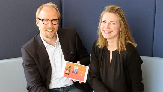 Behind Mightifier lie several owner-startups but the core app development team consists of five people. Pictured are Mightifier's founders Kimmo Timonen (left) and Mervi Pänkäläinen (right).