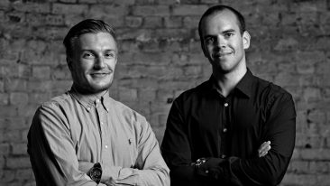 Smarp's founders Mikael Lauharanta (left) and Roope Heinilä (right) are steering their company towards the UK and US markets.