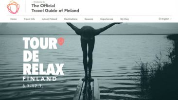 "Inviting visitors to ""follow this summer's slowest adventure"", Visit Finland's Tour de Relax received special mention."