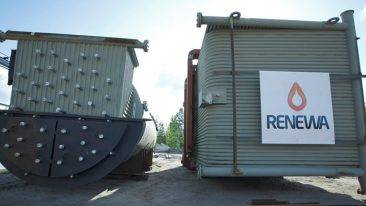 Renewa's new biomass boiler will supply the renewable heat needed for drying of pulp and will replace the existing boiler plant that has reached the end of its life cycle.