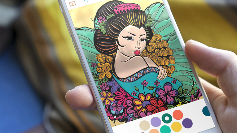 Finnish colouring book app for adults storms the market