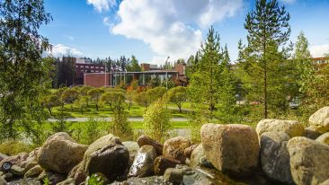 Nature is never far away in Finland. Lappeenranta University of Technology (pictured) was ranked 356th in the world.