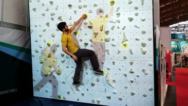 Augmented Climbing Wall boulders further
