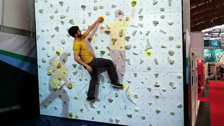 With an Augmented Climbing Wall, a climber can create new routes, receive video feedback and even climb with himself.