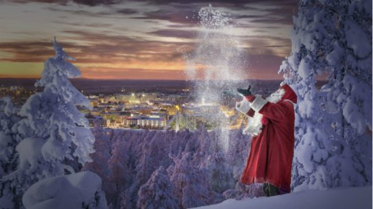 Santa's arrival on Weibo seeks to entice Chinese tourists to visit his homeland.