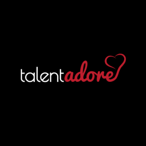TalentAdore's logo shows they have their heart in the game.