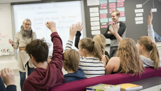 Hands up who wants to learn! The high quality of Finnish education continues to be well known abroad.