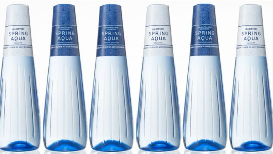 The bottle seeks to highlight the value of pure Finnish spring water.