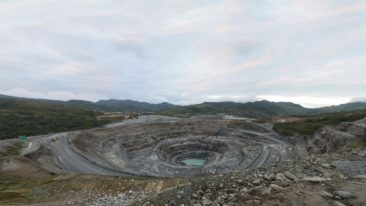 The main pit at OceanaGold's Didipio gold mine in the Philippines.