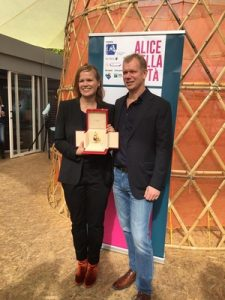 The director Selma Vihunen and producer Kai Nordberg received the award in Rome.