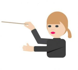 Susanna Mälkki was featured in the award-winning emojis published by the Ministry for Foreign Affairs of Finland.