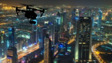 Automated drones will become a common sight in 'smart city' Dubai.