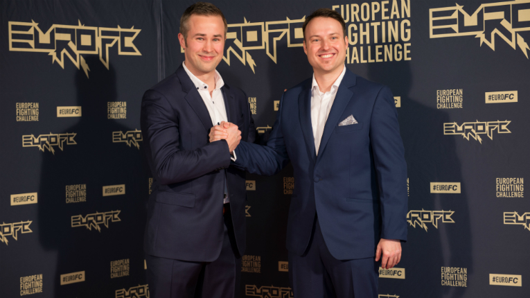 EuroFC CEO Jarno Kukila (left), with experienced MMA matchmaker Tim Leidecker who brings in the talent.