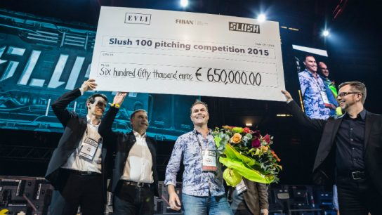 The race is on for who will be crowned the winner of the Slush 100 pitching competition this year.