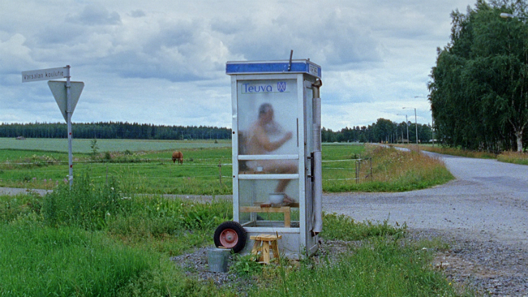 The phone booth sauna familiar from the film will follow the two directors and two men featured in the film on a promotional tour in Germany.