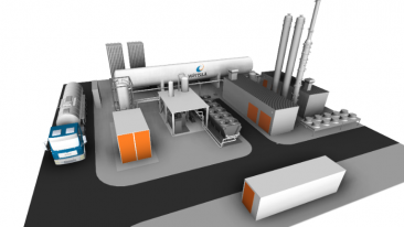 The new Wärtsilä biohybrid production plant in southern Germany will stand out due to its ability to liquefy and store methane-based gas.