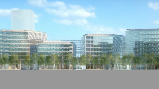The new FLOAT office complex in Düsseldorf's Media Harbour will feature the latest in high-end design.