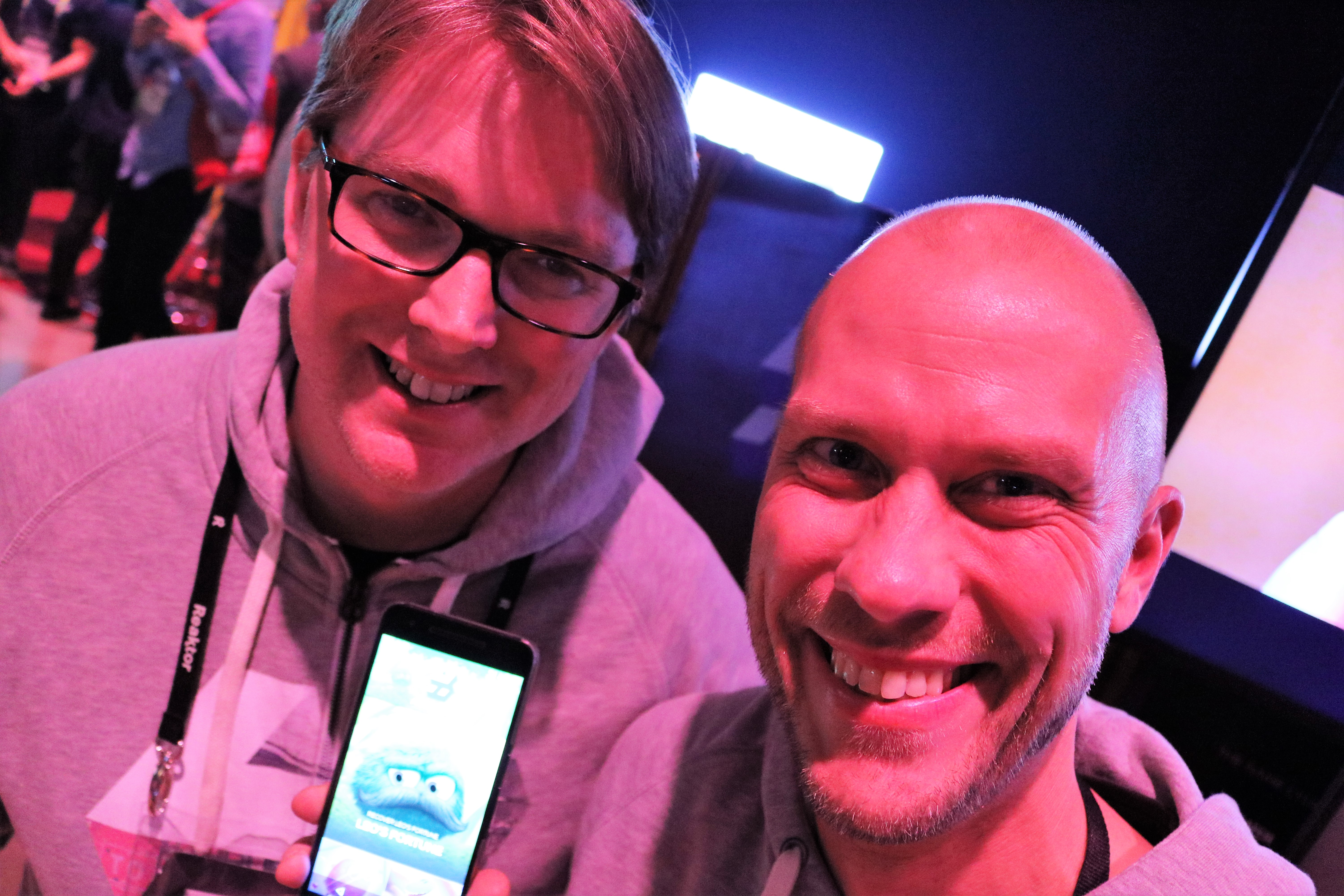 "Hatch Entertainment announced its existence at Slush. The company offers a completely new way of playing together with friends and family on mobile. Joseph Knowles (left) and Vesa Jutila were thrilled to be on board on the service that will eventually go full-on global. It already boasts a big list of partners, and Slush is likely to bring a lot more. ""Slush is a melting pot for technology, innovation and new ideas, so it was a perfect place for our launch,"" Jutila says."