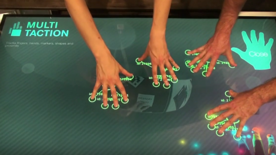MultiTaction provides advanced visualisation solutions, including touchscreen displays that more than one user at a time can interact with.