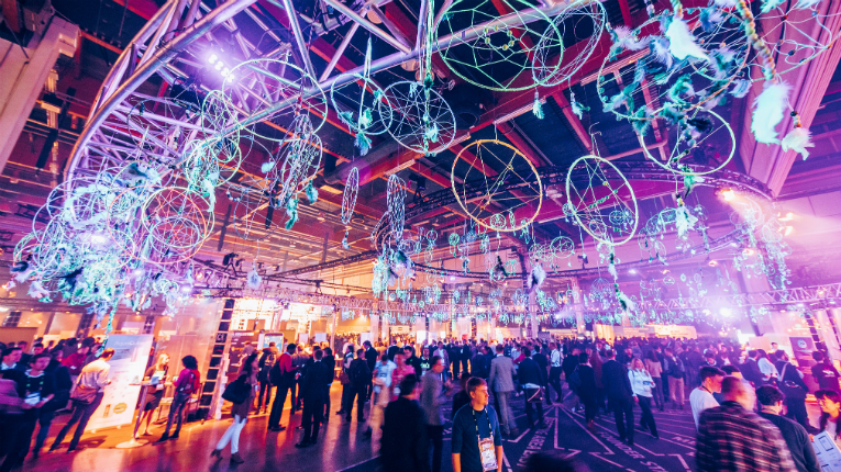 Dream on! The Slush ceiling, adorned with dreamcatchers.