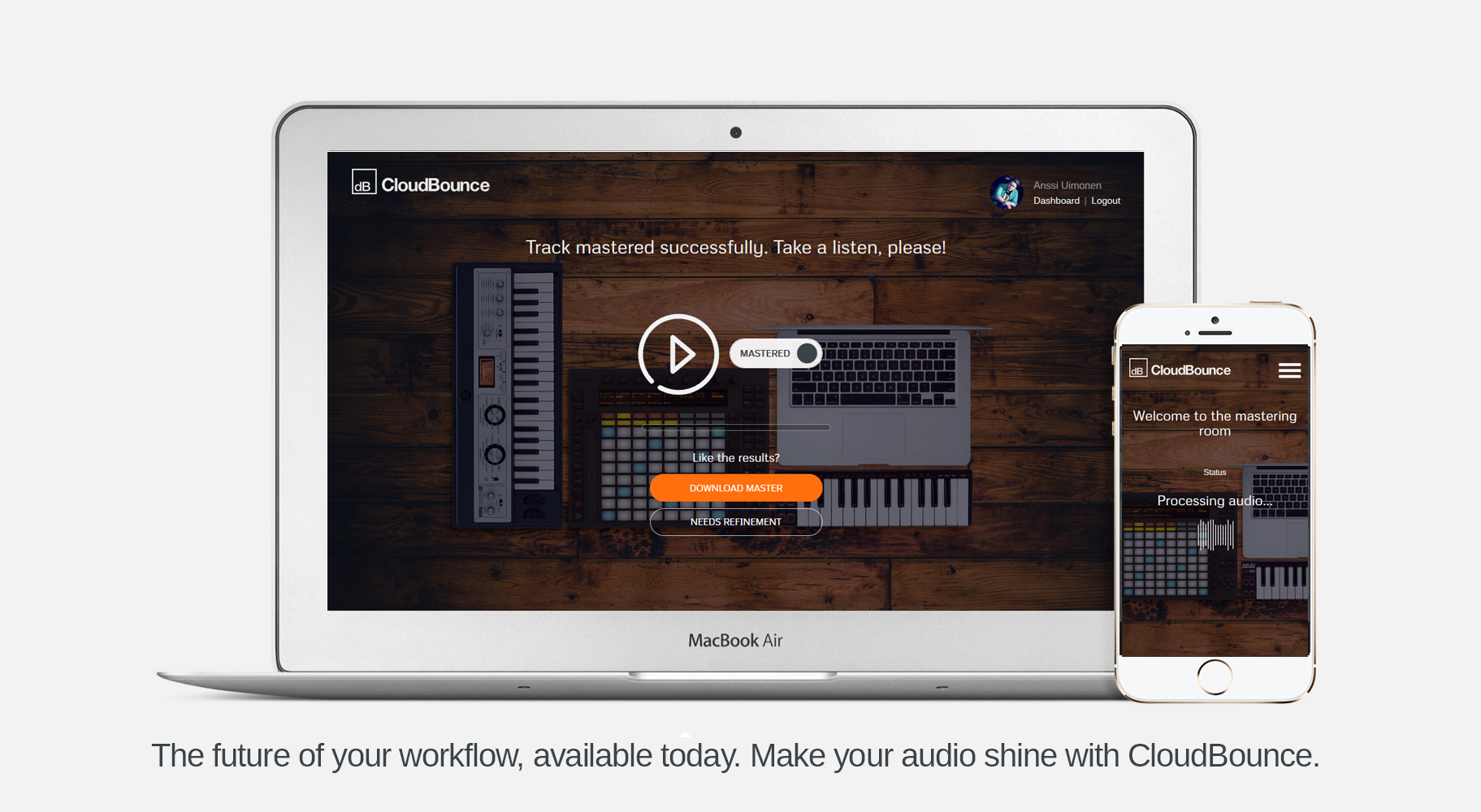 CloudBounce brings mastering to home computers.