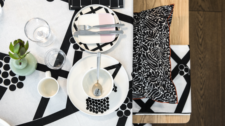 Marimekko product categories are fashion, bags and accessories and home decor items.