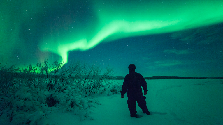 February is a prime time to visit Finnish Lapland to bask in the Northern Lights (Aurora Borealis).
