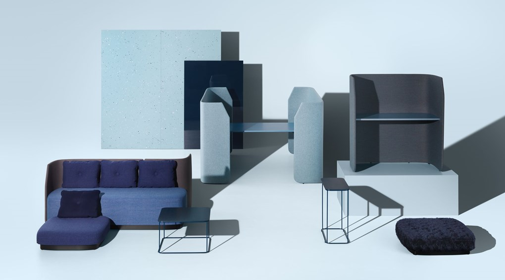 Fields is a range that works as a link between the traditional workplace and meeting rooms.