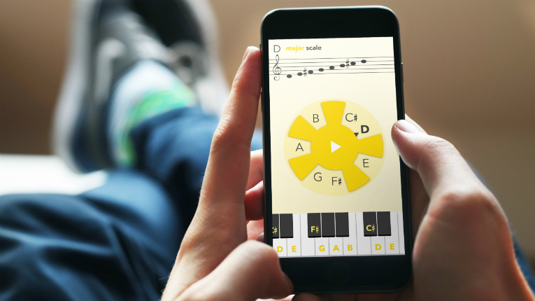 With MusiClock, users can start playing along in their favourite musical style in seconds.
