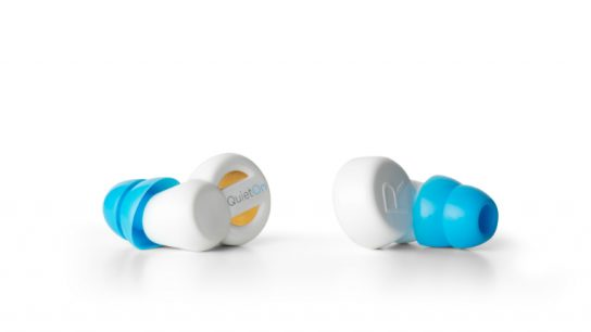 The QuietOn device is the only noise-cancelling earplug in the world, and uses special technology to reduce low frequency noises that ordinary earbuds do not.