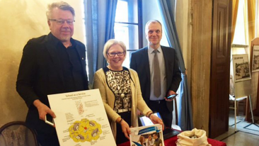 From left: professor, service architecture Jarmo Suominen, Aalto University; director of development Kristiina Erkkilä, the City of Espoo; and chief of upper secondary education Tapio Erma, the City of Espoo.