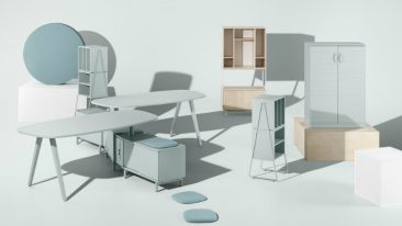 Space is a furniture concept for contemporary way of working, meeting and storing.