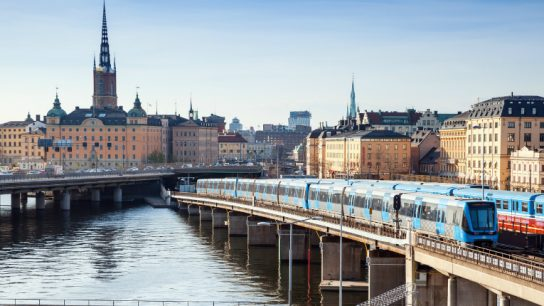 The Söderströmbron bridge in Stockholm links the Old Town with Södermalm and is crucial piece of the city's metro system.