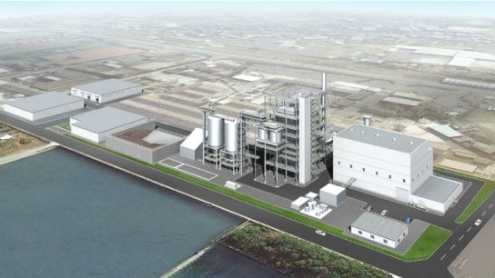 The power plant will be the biggest of its kind in Japan using solely biomass as fuel.