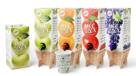 Metsä Group's patented Elavated drink box (EDB) won an iF Design certificate for 'Independent Packaging'.
