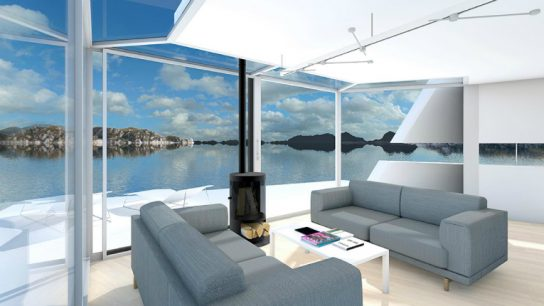 The Etcet Cat Floating House by Guy Design is designed to suit the marine environment.