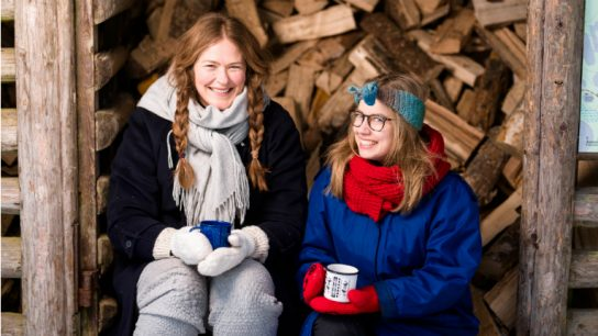 Nina Rantala (left) and Mirka Olin, the power duo behind Nord-T teas.