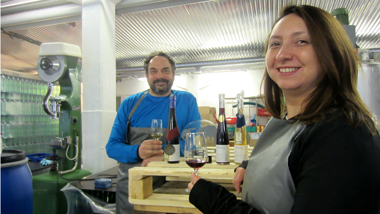 """Having exhausted every trick in the winemaking book, David Cohen (left, pictured with his wife, Paola) has come to a definite conclusion: """"Dessert wines are where berries shine the best."""""""