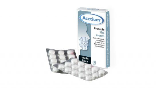Biohit's Acetium lozenge contains L-cysteine and xylitol and successfully removes acetaldehyde in a smoker's saliva.