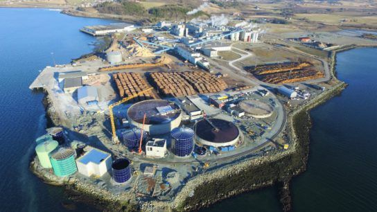 The plant is located in Skogn in central Norway.
